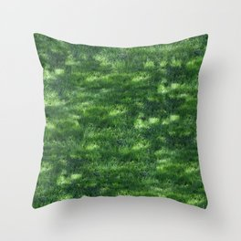 Speckled Turf Throw Pillow