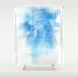Blue watercolor background Shower Curtain