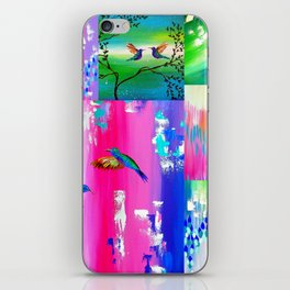 Hummingbird Collage iPhone Skin