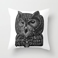 Cool owl Throw Pillow