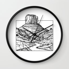 Monument Valley Hand Drawing Wall Clock