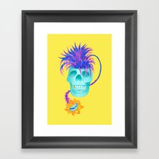 Rad cool skull Framed Art Print