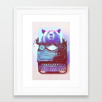 writer Framed Art Prints featuring Grizzly writer by RedGoat