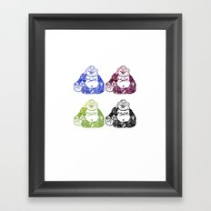 CMYK BUDDHA Framed Art Print