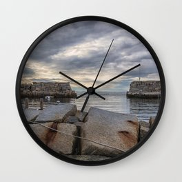Lanes Cove on a cloudy afternoon Wall Clock