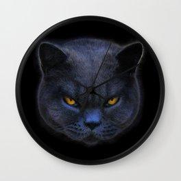 Cross Cat! Wall Clock