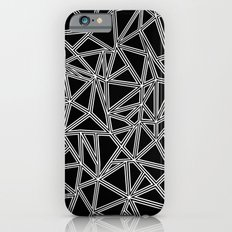 Abstract New White on Black Slim Case iPhone 6s