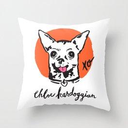 Chloe Kardoggian Illustration with Signature Throw Pillow
