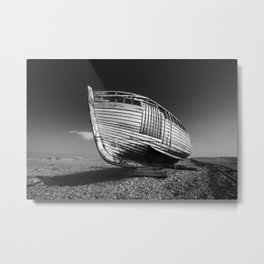 A Lonely Boat Metal Print