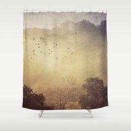 Fog Glow Shower Curtain