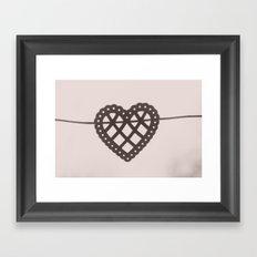 heart on a string Framed Art Print