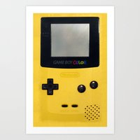 gameboy Art Prints featuring GameBoy by Blending