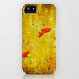 Poppies In The Golden Garden iPhone Case
