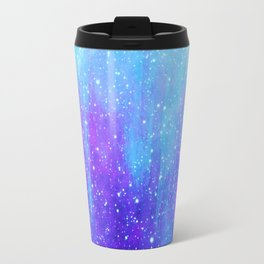 Space Ice Starfield Blue and Purple Travel Mug