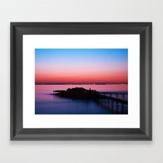 Sunset pier Framed Art Print