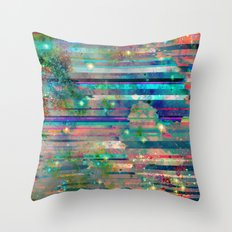 Space Glitch Throw Pillow