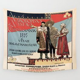 Czechoslav ethnographic exposition vintage ad Wall Tapestry