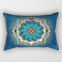 Mandala Moon Phases Rectangular Pillow