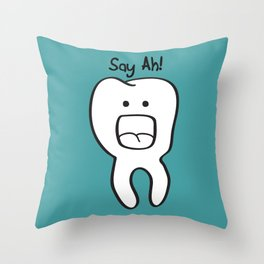 Say Ah! Throw Pillow