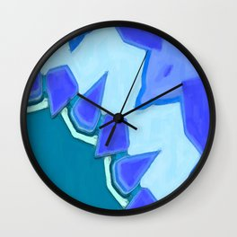 Jagged Tooth Teal Wall Clock