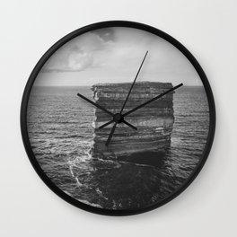 Dun Briste II Black and White Wall Clock