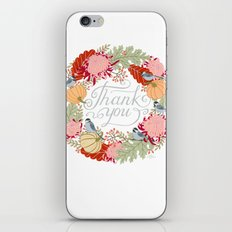 Thanksgiving thank you card iPhone & iPod Skin