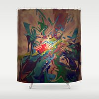 chaos Shower Curtains featuring Chaos by lillianhibiscus