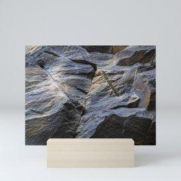Slate fracture Mini Art Print