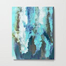 Turquoise And Earth Nebula Metal Print