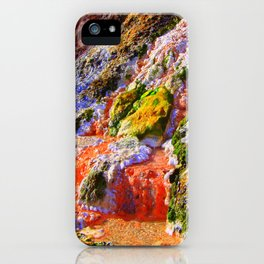 RAINBOW MINERAL WATERFALL iPhone Case
