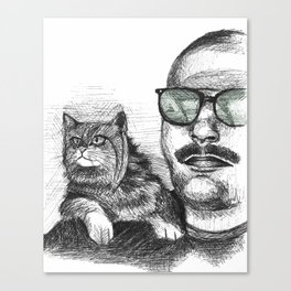 Max and Curly Canvas Print