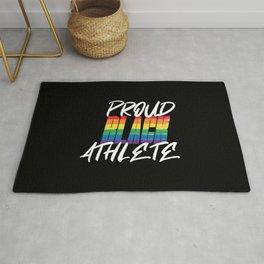 Proud Black Athlete Distressed Texture Rug