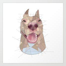 Smiling Pup Art Print