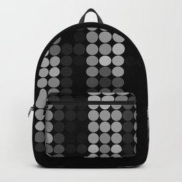 Shades Of Grey Dot Pattern - Syfy - Black & White - Matrix Backpack