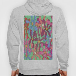 Colorful Retro Floral Print Hoody