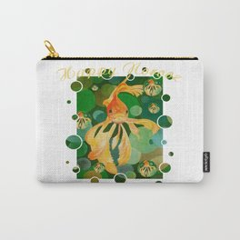 Happy Norooz Persian New Year Goldfish In Green Sea Carry-All Pouch