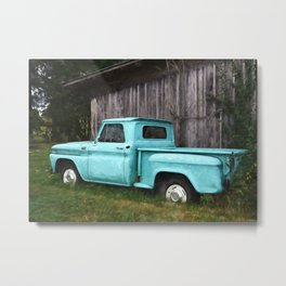 To Be Country - Vintage Truck Art Metal Print