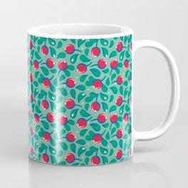 Cranberries pattern (on light green background) Coffee Mug