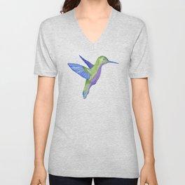Les Animaux: Hummingbird Unisex V-Neck