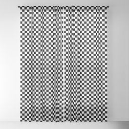 Classic Black and White Race Check Checkered Geometric Win Sheer Curtain