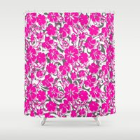 flower pattern Shower Curtains featuring Flower Pattern  by Sammycrafts