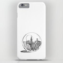 New York in a glass ball . Art . iPhone Case