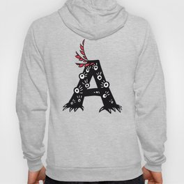 Letter A Funny Character Drawing Hoody