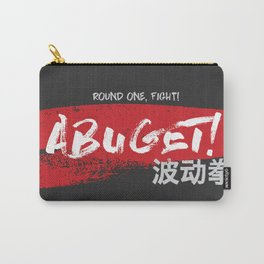 Abuget black Carry-All Pouch