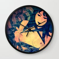 bondage Wall Clocks featuring Bondage Tape by Sirenphotos
