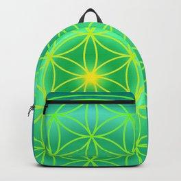 Flower Of Life Mandala - Green Backpack