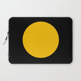 Light in the Dark | Yellow Circle Laptop Sleeve