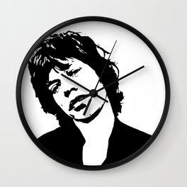 "Sir Michael Philip ""Mick"" JaggerBlack White Face, Music, Art Wall Clock"