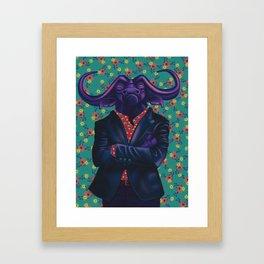 Cape Buffalo = Straight Up Boss Framed Art Print