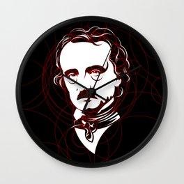 Edgar Allan Poe Circles Portrait Wall Clock